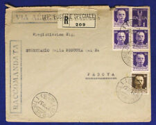 Office Special 1 Recommended 27.10.1937 Raccomandata Stamped #XP166