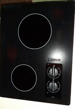 *Never Used*Kitchenaid Electric Cooktop, 2 Radiant Elements Model 00004000  Kecc056Rbl