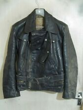 VINTAGE 40'S WW2 Distressed Leather Flying Cyclist Jacket Size M