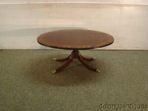 65660:Henkel Harris Solid Mahogany Banded Coffee Table