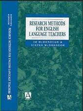 NEW Research Methods for English Language Teachers (Hodder Arnold Publication)