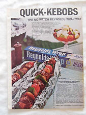 1969 Magazine Advertisement Page Featuring Reynolds Wrap Aluminum Foil Recipe Ad