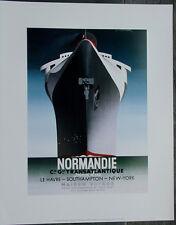A.M. Cassandre•NORMANDIE 1935 •16x20 Art Print Vintage Advertising Poster