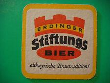 Beer Coaster Mat ~*~ ERDINGER Brauerei Stiftungs Bier Altbayrische Brautradition