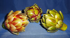 RAZ Imports Set Of Three Faux/Fake Artichokes For Bowl Filler Or Food Display-4""