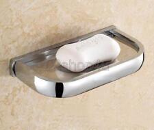 Polished Chrome Brass Wall Mounted Bathroom Soap Dish Holder Uba837