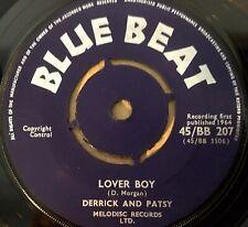 DERRICK & PATSY - Lover Boy / DERRICK MORGAN ~ THE Moon BLUE BEAT 207 EX+