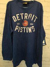 Detroit Pistons GIII Bank Shot Big Man Long Sleeve Pullover Shirt 5XL Brand NEW