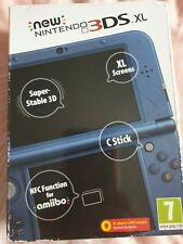 NEW Nintendo 3DS XL - Video Game Console - Metallic Blue (w/ Charger)