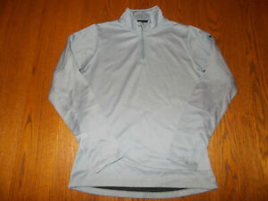 UNDER ARMOUR COLD GEAR 1/4 ZIP LONG SLEEVE GRAY TOP WOMENS SMALL EXCELLENT COND.