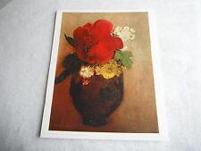 """Ancienne Lithographie Odilon Redon  """" Vase De Fleur Le Pavot Rouge """" Braun & Cie"""