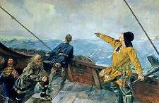 Leif Erikson Eirikson Ericcson Eriksson Discovering America  12x8 Inch Print