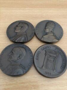 4 x Papst Medaille Vatikan verschiedene Päpste