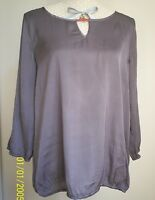Esprit Sommer Bluse Tunika Shirt Satin in braun, Gr. 42