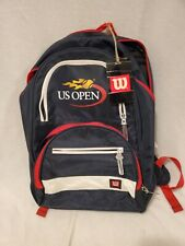 Vintage Wilson Us Open Tennis Racket backpack Red White Blue Navy Black Yellow