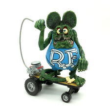 """4/"""" White RAT FINK  Big /""""Daddy/"""" Ed  Roth with Skateboard Action Figure No Box"""