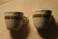 SYRACUSE CHINA MADE IN USA - 2 COFFEE OR TEA CUPS Vintage Great Condition!!!!