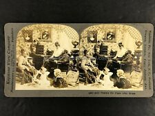"""SV004_069 Stereoview There's No Place Like Home"""" Family Toys Dolls"""