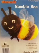 Bumble Bee Soft Toy Kit - Make Your Own - Cuddly Fur Fabric - Gift Children Sew