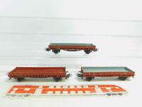 BN410-0,5 #3x Märklin H0 / AC 4606 Wagon à Bords Bas / Marchandises 476315 313/1