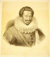 Lithographie Zugeschrieben Jean-Bap Mauzaisse (1784-1844) Porträt Links Identify