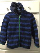 Mini Boden Boys 9/10 **NEW** Fleece Hoodie Sweatshirt Reversible Jacket Nwt