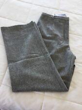 Mac & Jac Size 14 Grey Wool Blend Tweed Wide Leg Trousers Pants NWT