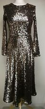 Monsoon Womens Sequin Dress, Size 10, Black Mix, New With Tags O818