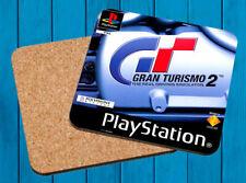 GRAN TURISMO 2 PLAYSTATION PSX POSAVASOS MADERA WOODEN COASTERS