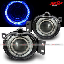 Blue LED DRL Halo Angel Eyes Projector Fog Lights Lamps Kit Fits 02-08 Dodge Ram