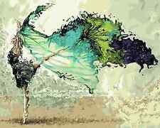 40x50cm Malen nach Zahlen DIY Tanzen Malerei Zimmer Dekor Rahmenlos 692
