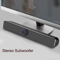 Desktop Speaker SoundBar USB Subwoofer Stereo Bass For PC Laptop Computer