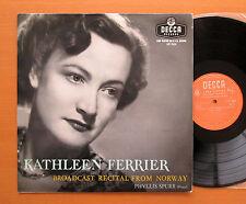 LXT 5324 Kathleen Ferrier Broadcast Recital From Norway 1949 NM/EX Decca