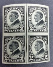 1923  US  STAMPS BLOCK OF 4 # 611 MNH**OG  HARDING MEMORIAL IMPERF SUPERB