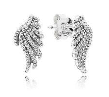 Genuine Pandora Sterling Silver Majestic Feathers Stud Earrings - 290581CZ