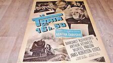 LE TRAIN DE 16H50 ! g pollock , agatha christie affiche cinema  1962 locomotive
