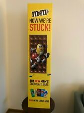 M&M's Chocolate Bar 3-Sided Store Display Standee