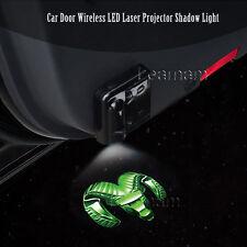 2x Car Door Wireless LED Laser Projector Shadow Light For Dodge Ram Green Logo