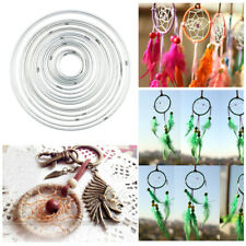10Pcs Metal Dream Catcher Dreamcatcher Ring Craft Hoop Round 4.5-19cm Handmade