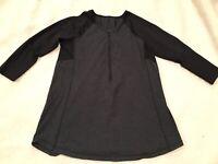 Lululemon Clip-In Long Sleeve, HBK/Black, Size 6