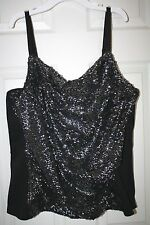 """""""Lane Bryant"""" Sequin Bustier~Silver Frost~22~NWT"""