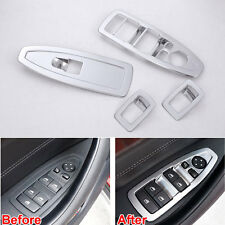 For BMW X1 16-2018 Car New Door Window Switch Lift Control Botton Cover Trim ABS