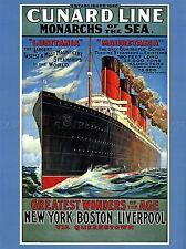 TRAVEL TRANSPORT LUSITANIA MAURETANIA CRUISE LINER SHIP BOAT FUNNEL LV4392