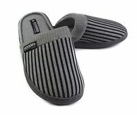 Mens Slippers Grosby Hoodies SCUFF Grey Black Slipper Scuffs Size S M L XL