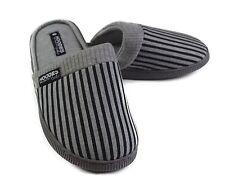 Mens Slippers Grosby Hoodies SCUFF Grey Black Slipper Scuffs Size S M L XL