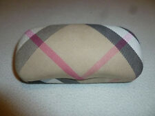 BURBERRY EMPTY GLASSES CASE PLAID NOVA EYEGLASSES CLAMSHELL