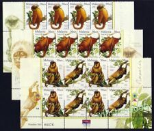 2003 Malaysia Animals Monkey Primates Stamps 24v (Lower Block) POS tabs Mint NH