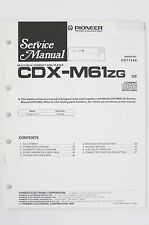 PIONEER CDX-M61 ZG Original CD Player Service-Manual/Schaltplan/Diagram o98