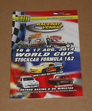 2014 Venray F1 & F2 stock car World Cup programme, 16/17 August