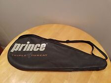 Prince Faux Leather Triple Threat Rip Tennis Racquet Cover Very Good Free Ship